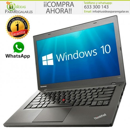 Lenovo T440s, i5 / Cam / 256 SSD / 8Gb / Ultra Fino / Windows 10 Gratis