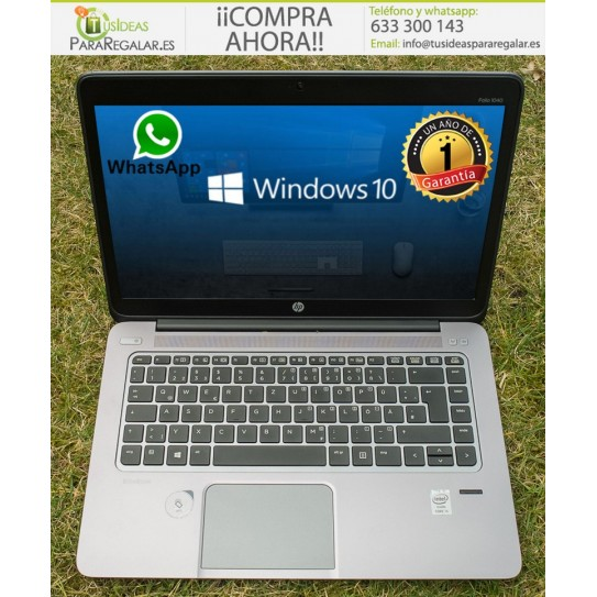 Hp EliteBook Folio 1040, i5 / Ultra fino / 180Gb SSD / Cam / Win 10 Gratis