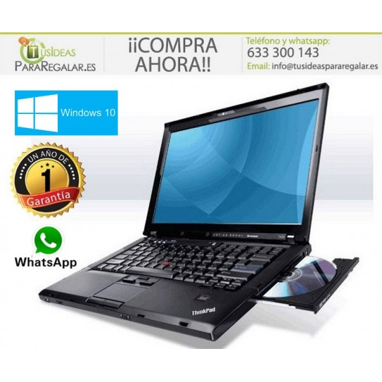 "Lenovo R400, 14"" / Wifi / Dvd / Web Cam / Windows 10 Gratis"