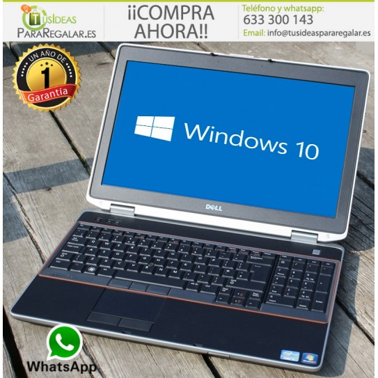 Dell E6520, i5 / HDMI / 8Gb Ram / Cam / Windows 10 Gratis
